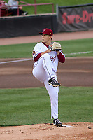 Wisconsin Timber Rattlers starting pitcher Brandon Knarr (33) on the mound during a game against the Cedar Rapids Kernels on September 8, 2021 at Neuroscience Group Field at Fox Cities Stadium in Grand Chute, Wisconsin.  (Brad Krause/Four Seam Images)