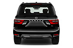 Straight rear view of 2021 Nissan Armada SL 5 Door SUV Rear View  stock images