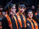 TERRYVILLE, CT- 8 June 2016-060816EC10-  Student David Tyler Betters received his diploma during Terryville High School's graduation Wednesday night. Erin Covey Republican-American