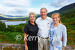 Kerry Kennedy on the left pictured here with Henry & Susan Livingston at their property at Cappamore, Waterville on Saturday.