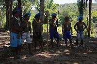 Apresentação da equipe do Panamazonica e comunidade<br />Dcocumentação da comunidade indígena Kayapó Môikàràkô<br />e ambiente na comunidade.<br />Territorio indígena Kayapó, São Félix do Xingu, Pará, Brasil.<br />Foto Paulo Santos