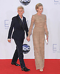 Ellen Degeneres and Portia de Rossi at The 64th Anual Primetime Emmy Awards held at Nokia Theatre L.A. Live in Los Angeles, California on September  23,2012                                                                   Copyright 2012 Hollywood Press Agency