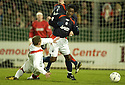 26/12/2004  Copyright Pic : James Stewart.File Name : jspa10_falkirk_v_airdrie.MARK ROBERTS IS BOOKED FOR THIS LATE CHALLENGE ON RUSSELL LATAPY...Payments to :.James Stewart Photo Agency 19 Carronlea Drive, Falkirk. FK2 8DN      Vat Reg No. 607 6932 25.Office     : +44 (0)1324 570906     .Mobile   : +44 (0)7721 416997.Fax         : +44 (0)1324 570906.E-mail  :  jim@jspa.co.uk.If you require further information then contact Jim Stewart on any of the numbers above.........