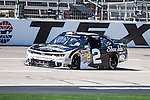 Nationwide Series driver Brian Scott (2) in action during the NASCAR Nationwide Series qualifying at Texas Motor Speedway in Fort Worth,Texas.
