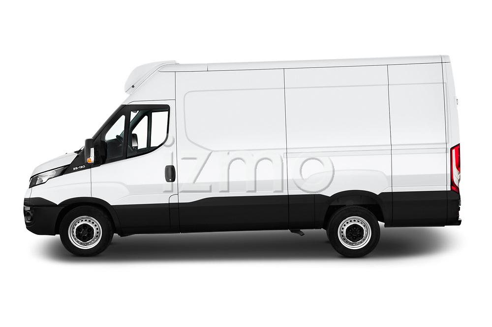 Car driver side profile view of a 2018 Iveco Daily 35S 4 Door Cargo Van
