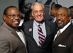 Carl Davis, Peter Brown and Howard Watson at the NAACP's Hollywood Comes to Houston party at Advantage BMW Thursday  Feb. 12, 2009.(Dave Rossman/For the Chronicle)