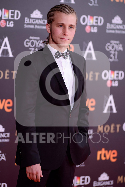 Emilio Palacios attends to the Red Carpet of the Goya Awards 2017 at Madrid Marriott Auditorium Hotel in Madrid, Spain. February 04, 2017. (ALTERPHOTOS/BorjaB.Hojas)