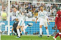 Gareth BALE, Real Madrid 11  goal,   2-1 , celebration , Cristiano RONALDO, Real Madrid 7 <br /> REAL MADRID - FC LIVERPOOL<br /> Football UEFA Champions League, Finale, Kiew, Ukraine, May 26, 2018<br /> CL Season 2017 2018<br />  <br />  *** Local Caption *** © pixathlon<br /> Contact: +49-40-22 63 02 60 , info@pixathlon.de