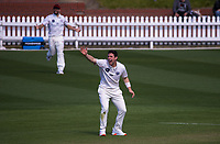 Matt Henry appeals during day three of the Plunket Shield match between the Wellington Firebirds and Canterbury at Basin Reserve in Wellington, New Zealand on Wednesday, 21 October 2020. Photo: Dave Lintott / lintottphoto.co.nz