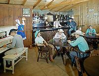 Gay El Rancho Resort. Piano Bar with cowboys & cowgirls