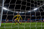 Goalkeeper Thibaut Courtois of Chelsea FC fails to save the shot by Antoine Griezmann of Atletico de Madrid during the UEFA Champions League 2017-18 match between Atletico de Madrid and Chelsea FC at the Wanda Metropolitano on 27 September 2017, in Madrid, Spain. Photo by Diego Gonzalez / Power Sport Images