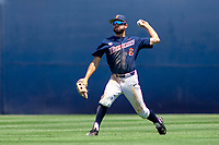 Cal State Fullerton Titans Mitchell Berryhill (6) in action against the University of Washington Huskies at Goodwin Field on June 08, 2018 in Fullerton, California. The University of Washington Huskies defeated the Cal State Fullerton Titans 8-5. (Donn Parris/Four Seam Images)