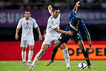 (L) Casemiro of Real Madrid CF competes for the ball with (R) Geoffrey Kondogbia of FC Internazionale during the FC Internazionale Milano vs Real Madrid  as part of the International Champions Cup 2015 at the Tianhe Sports Centre on 27 July 2015 in Guangzhou, China. Photo by Aitor Alcalde / Power Sport Images