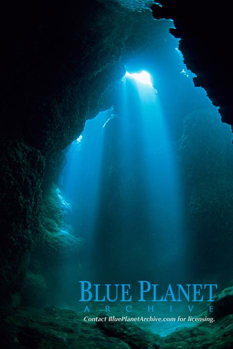 sun beam, cave, Miyako-jima island, Ryukyu Islands, Okinawa, Pacific Ocean