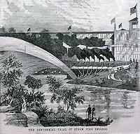 Utopia:  Centennial Exposition--Fire Engine Test.  SCIENCE AMERICA, Oct. 14, 1876.