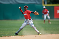 Algenis Vasquez (1) during the Dominican Prospect League Elite Underclass International Series, powered by Baseball Factory, on August 2, 2017 at Silver Cross Field in Joliet, Illinois.  (Mike Janes/Four Seam Images)