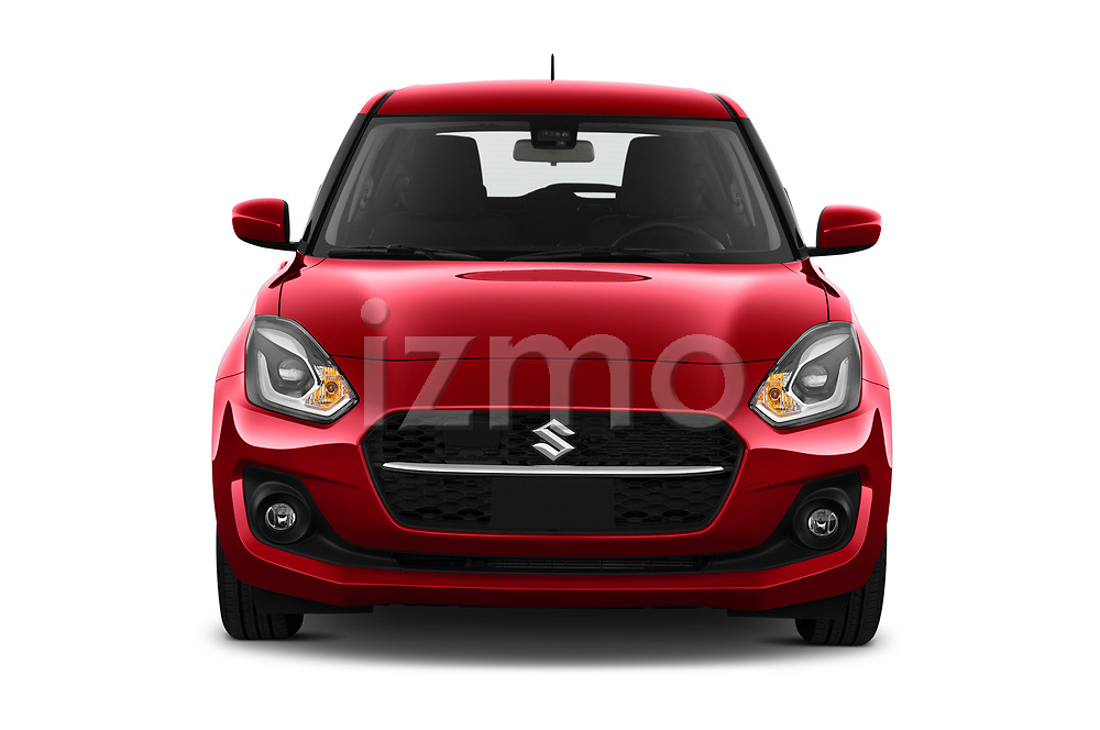 Car photography straight front view of a 2021 Suzuki Swift GL-Plus-Hybrid 5 Door Hatchback Front View