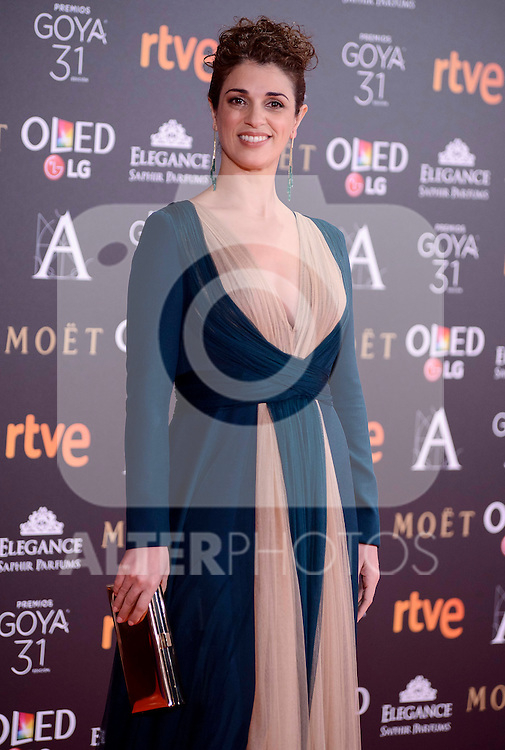 Ruth Gabriel attends to the Red Carpet of the Goya Awards 2017 at Madrid Marriott Auditorium Hotel in Madrid, Spain. February 04, 2017. (ALTERPHOTOS/BorjaB.Hojas)