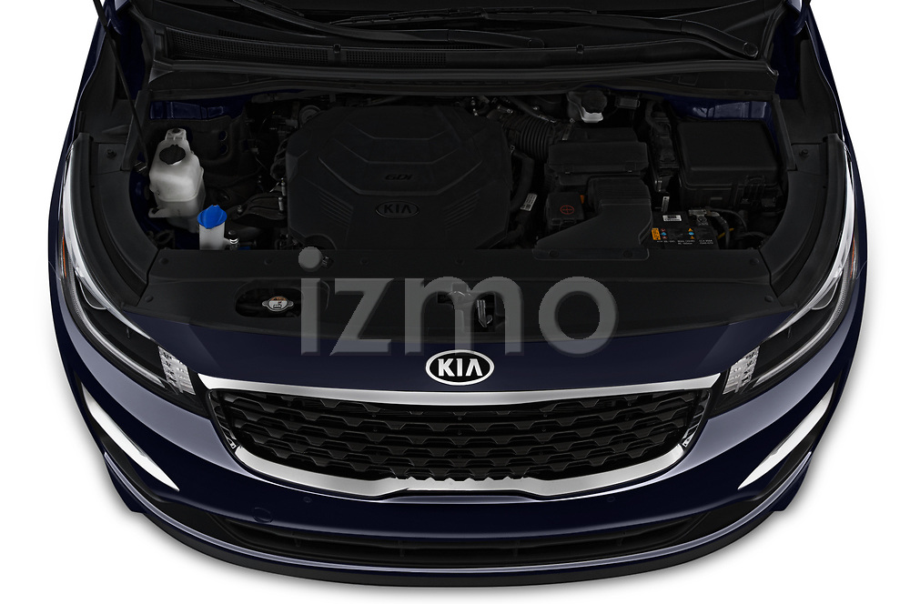 Car Stock 2019 KIA Sedona EX 5 Door Minivan Engine  high angle detail view