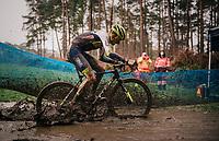 Quinten Hermans (BEL/Tormans) splashing around<br /> <br /> Men's Race at the X2O Herentals Cross 2020 (BEL)<br /> <br /> ©kramon
