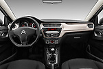 Stock photo of straight dashboard view of 2016 Citroen C-Elysee Confort 4 Door Sedan Dashboard