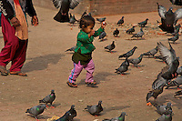 Life in and and around Hanuman-dhoka Durbar Square, Kathmandu, Nepal