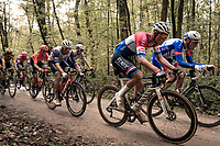 Mathieu Van der Poel (NED/Alpecin-Fenix) & Mads Pedersen (DEN/Trek-Segafredo) over the Plugstreets<br /> <br /> 82nd Gent-Wevelgem in Flanders Fields 2020 (1.UWT)<br /> 1 day race from Ieper to Wevelgem (232km)<br /> <br /> ©kramon