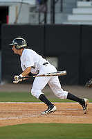 UCF Knights second baseman Travis Shreve #1 at bat during a game against the Siena Saints at the UCF Baseball Complex on March 3, 2012 in Orlando, Florida.  UCF defeated Siena 6-4.  (Mike Janes/Four Seam Images)