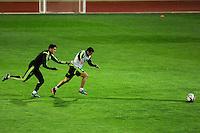 Spanish National Team's  training at Ciudad del Futbol stadium in Las Rozas, Madrid, Spain. In the pic: Bartra and Pedro. March 25, 2015. (ALTERPHOTOS/Luis Fernandez) /NORTEphoto.com