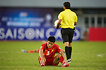 Vietnam vs Japan during the 2014 AFC U19 Mens Championship group C match on October 11, 2015 at the Wunna Theikdi Stadium in Nay Pyi Taw, Myanmar. Photo by World Sport Group