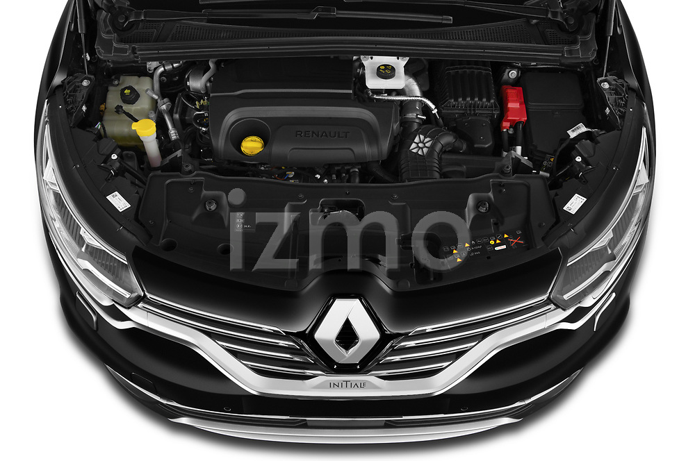 Car Stock 2020 Renault Espace Initiale-Paris 5 Door Mini MPV Engine  high angle detail view