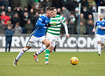 St Johnstone v Celtic…03.02.19…   McDiarmid Park    SPFL<br />Ross Callachsn and Callum McGregor<br />Picture by Graeme Hart. <br />Copyright Perthshire Picture Agency<br />Tel: 01738 623350  Mobile: 07990 594431