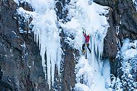Malcolm Kent ice climbing, Iceland