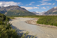 Big delta river, Alaska mountain range, Interior, Alaska.