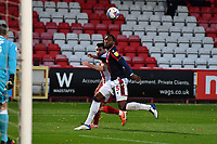 Danny Newton of Stevenage FC is blocked by Ricardo Santos of Bolton Wanderers F.C. during Stevenage vs Bolton Wanderers, Sky Bet EFL League 2 Football at the Lamex Stadium on 21st November 2020