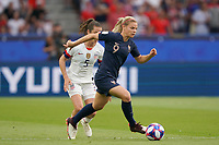 PARIS, FRANCE - JUNE 28: Eugénie Le Sommer #9 prior to a 2019 FIFA Women's World Cup France quarter-final match between France and the United States at Parc des Princes on June 28, 2019 in Paris, France.