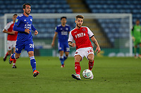 Conor McAleny of Fleetwood Town during the English League Cup Round 2 Group North match between Leicester City and Fleetwood Town at the King Power Stadium, Leicester, England on 28 August 2018. Photo by David Horn.