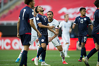 ZAPOPAN, MEXICO - MARCH 21: Hassani Dotson #18 of the United States celebrates his goal during a game between Dominican Republic and USMNT U-23 at Estadio Akron on March 21, 2021 in Zapopan, Mexico.