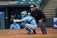 Brandon Martorano (4) of the North Carolina Tar Heels on defense against the Boston College Eagles in Game Five of the 2017 ACC Baseball Championship at Louisville Slugger Field on May 25, 2017 in Louisville, Kentucky. The Tar Heels defeated the Eagles 10-0 in a game called after 7 innings by the Mercy Rule. (Brian Westerholt/Four Seam Images)