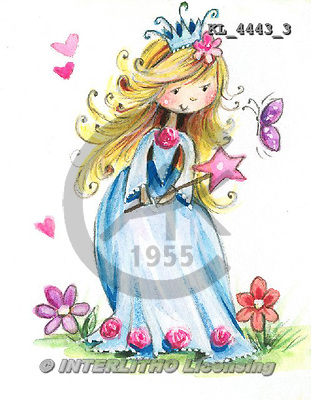 Interlitho, CHILDREN, KINDER, NIÑOS, paintings+++++,KL4443/3,#k# princess ,everyday