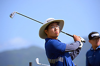 Tae Min Kim. Day one of the Renaissance Brewing NZ Stroke Play Championship at Paraparaumu Beach Golf Club in Paraparaumu, New Zealand on Thursday, 18 March 2021. Photo: Dave Lintott / lintottphoto.co.nz