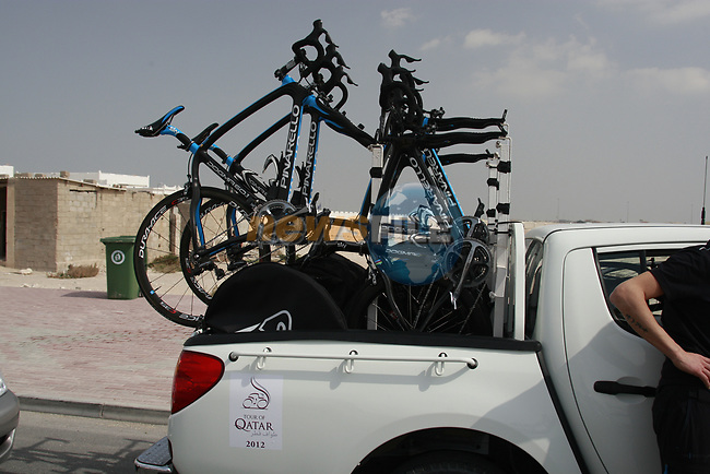 Sky Procycling team car in Qatar at the start of Stage 1 of the Tour of Qatar 2012 running 142.5km from Barzan Towers to Doha Golf Club, Doha, Qatar. 5th February 2012.<br /> (Photo by Eoin Clarke/NEWSFILE).