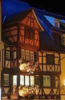 Europe/France/Alsace/68/Haut-Rhin/Colmar:Décoration de Noël des maisons