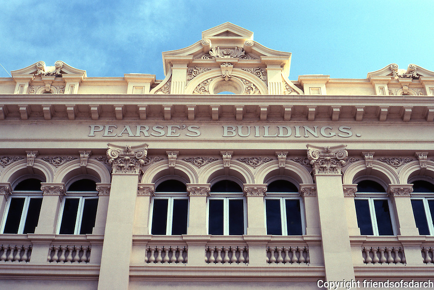 Fremantle: Pearse's Buildings, High Street--cornice. Photo '82.