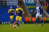 Saturday 25 January 2014<br /> Pictured: Alejandro Pozuelo moves forward with the ball <br /> Re: Birmingham City v Swansea City FA Cup fourth round match at St. Andrew's Birimingham