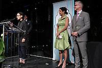 Chloe Robichaud, cineaste<br />   au Gala Phenicia de la Chambre de Commerce LGBT du Québec, tenu au Parquet de la Caisse de Depots et Placements du Quebec, jeudi, 26 mai 2016.<br /> <br /> <br /> PHOTO : Pierre Roussel -  Agence Quebec Presse