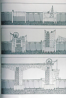 Roman Technology:  A Bridge, drawing. Stages of construction.  D. Macauley.  Photo '84.