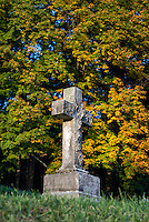 Autumn cemetery, Lenox, Massachusetts, USA