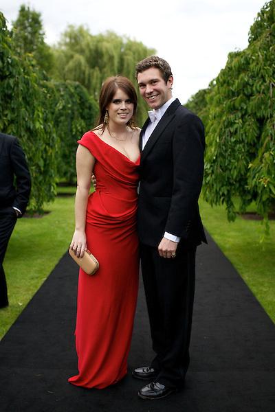Princess Eugenie and boyfriend Jack Brooksbank at Elton John's White Tie and Tiara Ball
