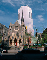 Montreal (Qc) CANADA - 1998 file photo -<br /> Promenades de la Cathedrale in downtown Montreal.<br /> <br /> PHOTO :  Agence Quebec Presse